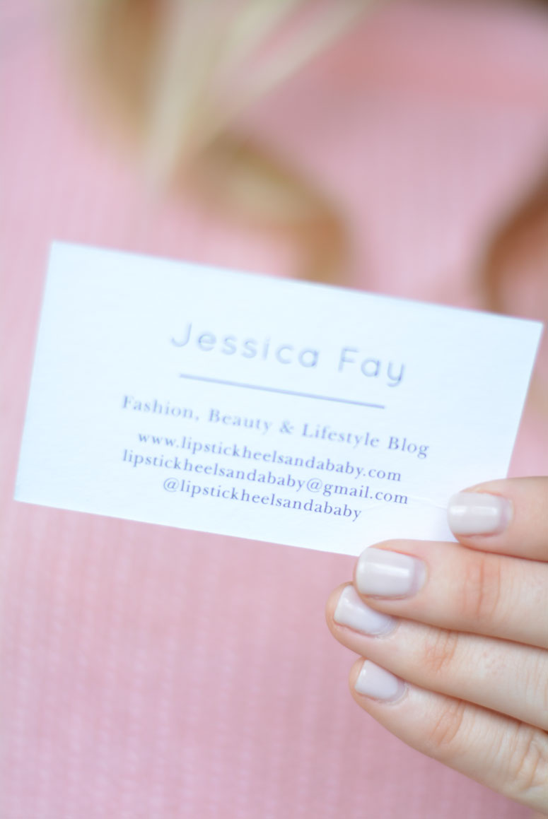 Blogger Business Cards - Lipstick Heels and a Baby