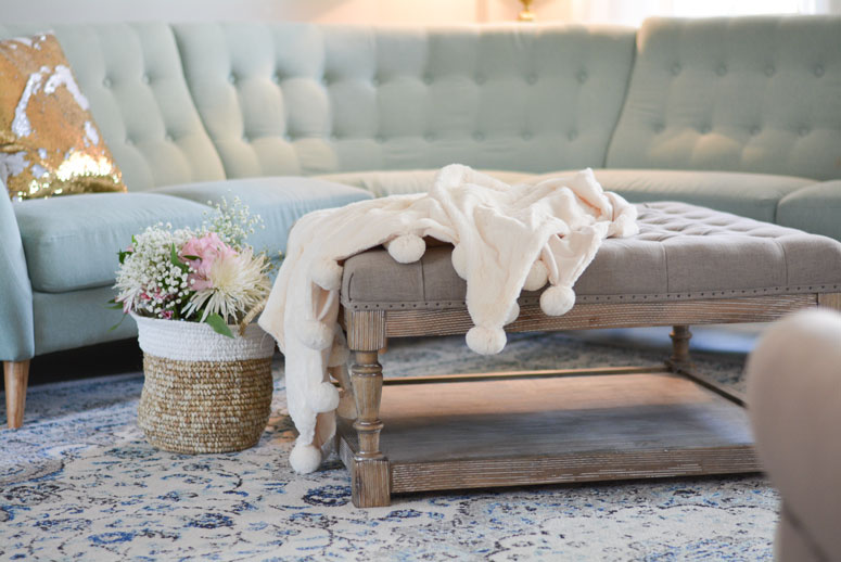 Overstock Living Room Reveal - Lipstick Heels and a Baby