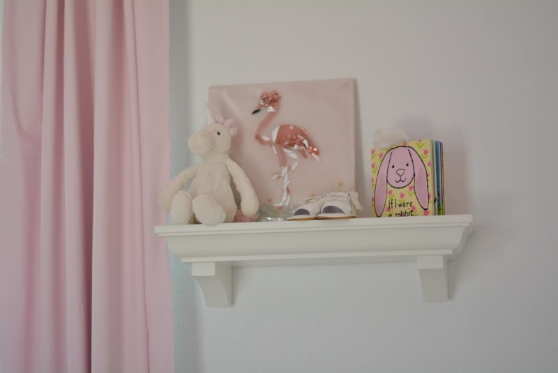 Flamingo and unicorn nursery