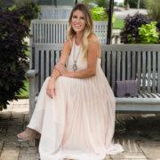 Blush Pleated Maxi Dress