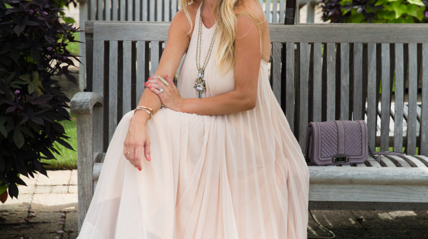Blush Pleated Maxi