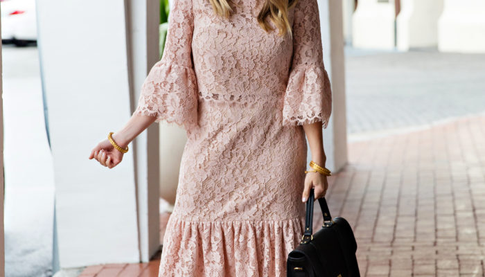 Blush Lace Valentines Day Look